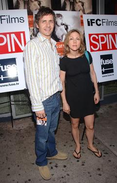 Dean Wareham and Britta Phillips at the premiere of &quot;Brothers Of The Head.&quot;